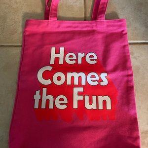"Bando ""Here Comes the Fun"" pink tote"